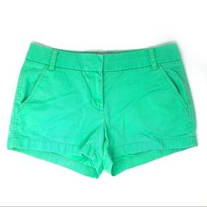 J. Crew Mint Chino Shorts